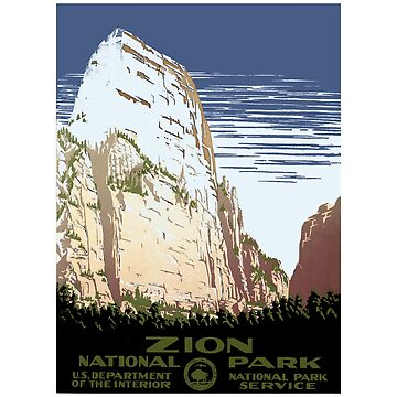 Zion National Park, Utah - Vintage Travel Poster Design by Chunga