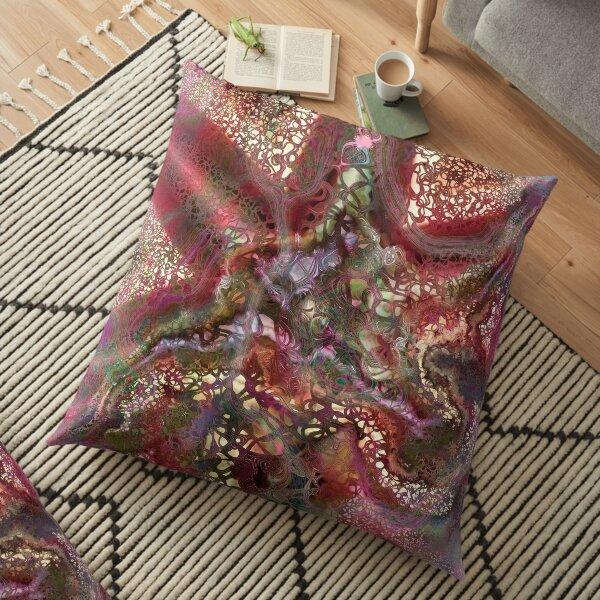 Alien Squiggles 1 Floor Pillow