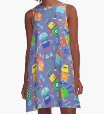 Toy Robot Pattern A-Line Dress