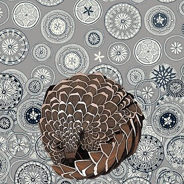 pangolin mandala pewter by scrummy