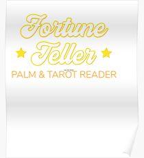 Your Friendly Psychic Tshirt Design fortune teller Poster