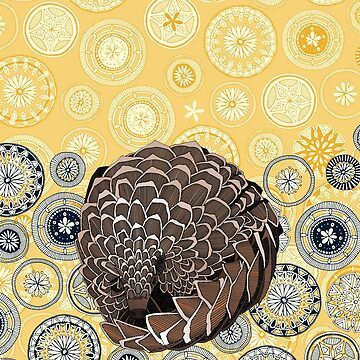 pangolin mandala sunshine by scrummy