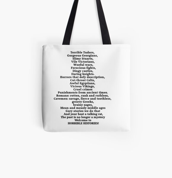 Horrible Histories Theme Song All Over Print Tote Bag