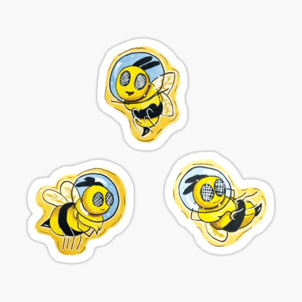 Space Bees Sticker