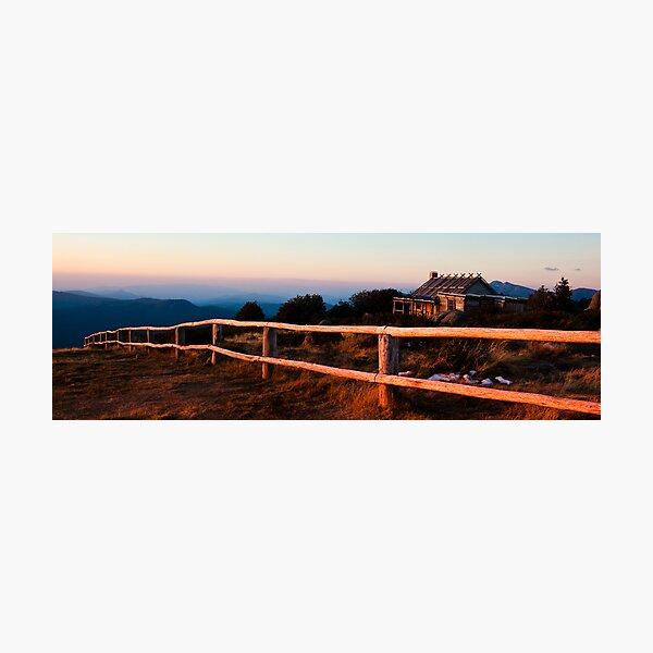 Craigs Hut Panorama Photographic Print