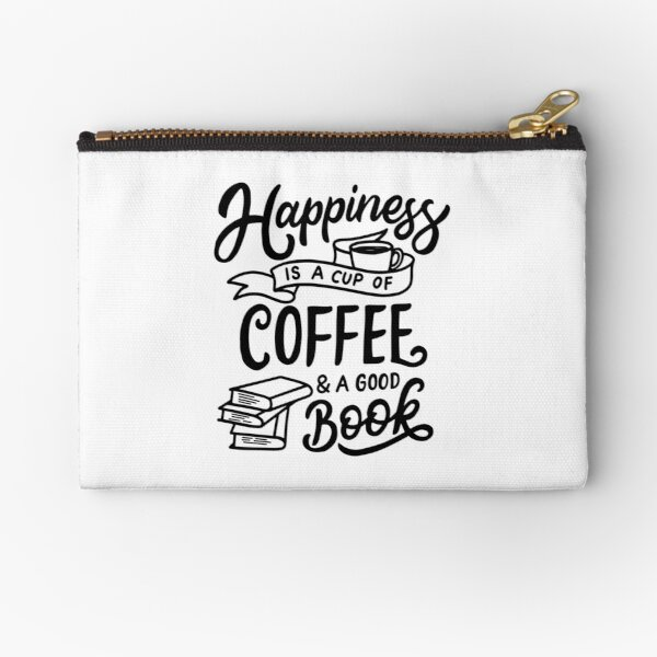 Coffee and a good book Zipper Pouch
