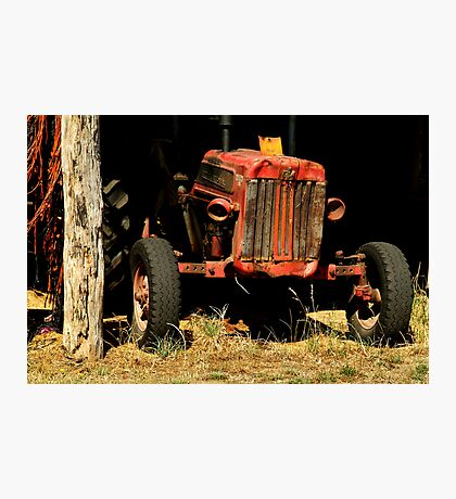 Tractor Shed Photographic Print