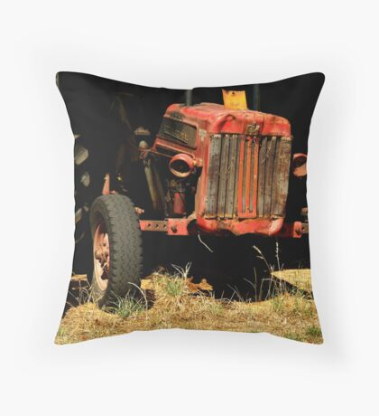 Tractor Shed Throw Pillow