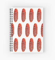 seamless pattern in watercolor of a pine cone winter Spiral Notebook