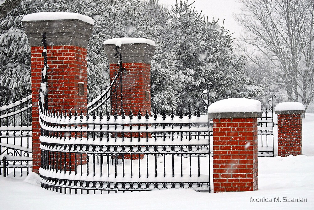 Snowy Entrance  by Monica M. Scanlan