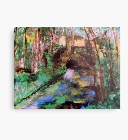 My  Painting    of /   The Little Bridge, Pontoise  /       (  My Paintings  ) Metal Print