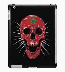 Morocco skull flag pentagram iPad Case/Skin