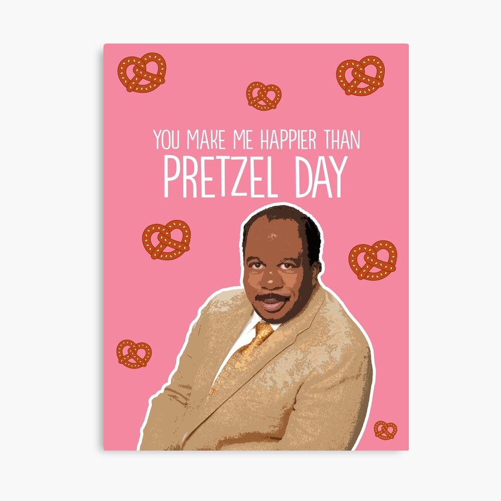 Happier than Pretzel Day Canvas Print