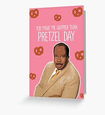 Happier than Pretzel Day Greeting Card