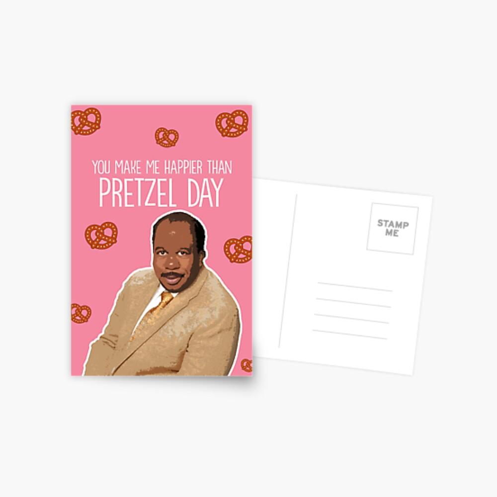 Happier than Pretzel Day Postcard
