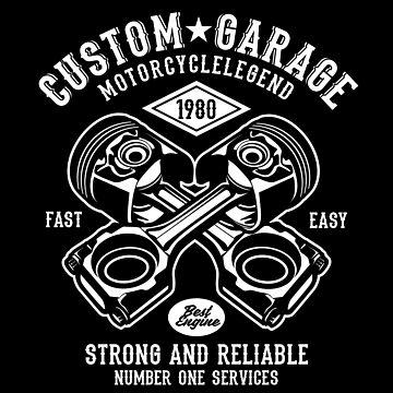 Custom Garage Motorcycle Legend by Skullz23