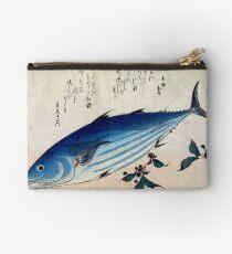 Hiroshige Skipjack Katsuo Tuna Japanese Woodcut Studio Pouch