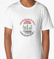 Iraq Its In My Dna Gift For Iraqi From Iraq - DNA Strand and Thumbprint With Iraq Flag Long T-Shirt