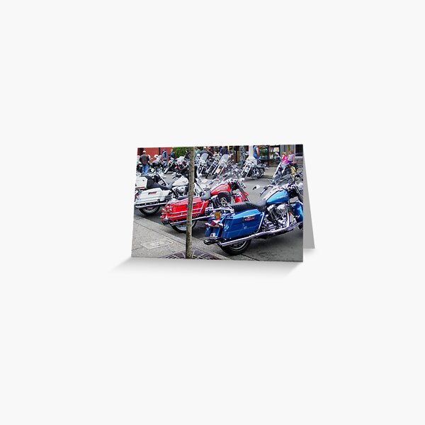 White, Red and Blue Greeting Card