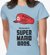 Super Mario Bros. Born to Jump Women's Fitted T-Shirt
