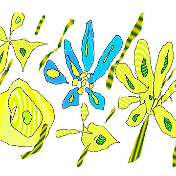 yellow and blue by Hristova