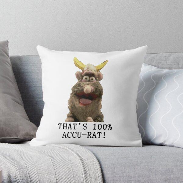 That's Accu-Rat - Rattus Rattus - Horrible Histories Throw Pillow