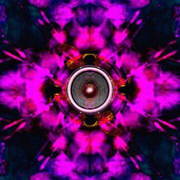 Psychedelic music speaker  by steveball