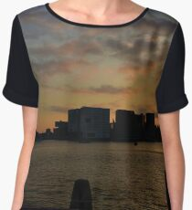 Sunset in the Amsterdam  Chiffon Top