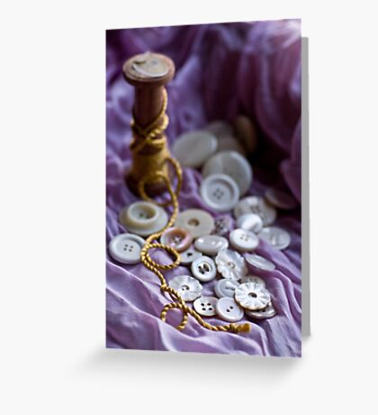 Buttons and Golden Thread Greeting Card