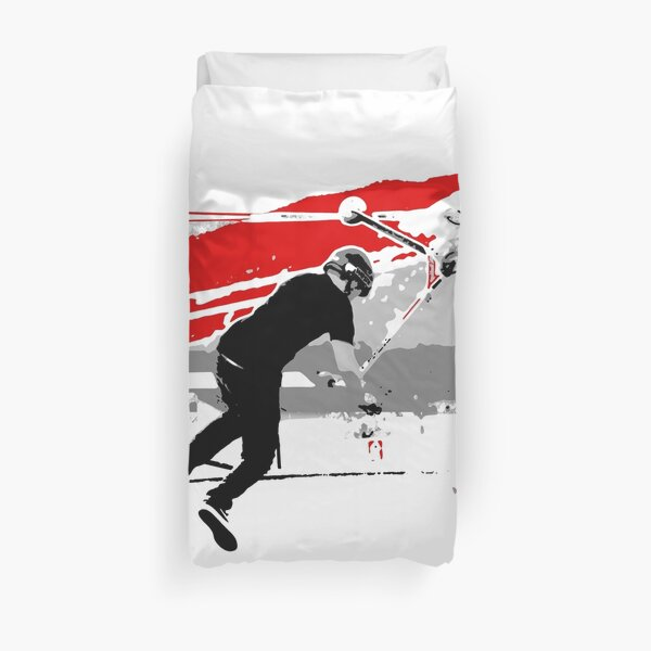 Spinning the Deck - Tail-whip Scooter Stunt Duvet Cover