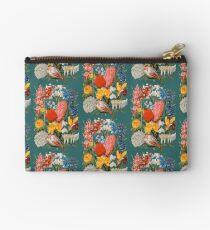 Viktorianisches Blumen-Kasten-Weinlese-Einklebebuch-Blumen mit Tulpen, Narzissen, Krokus, Freesie und mehr Täschchen