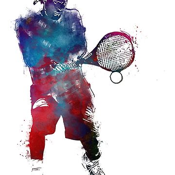 Tennis player sport art #tennis #sport by JBJart