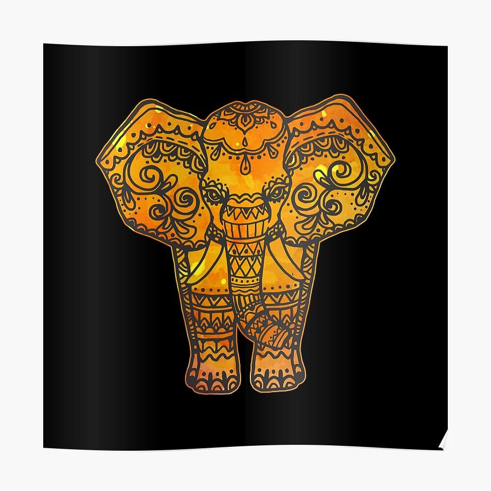 Elefant Wild Afrika Safari Rüssel Geschenk Poster