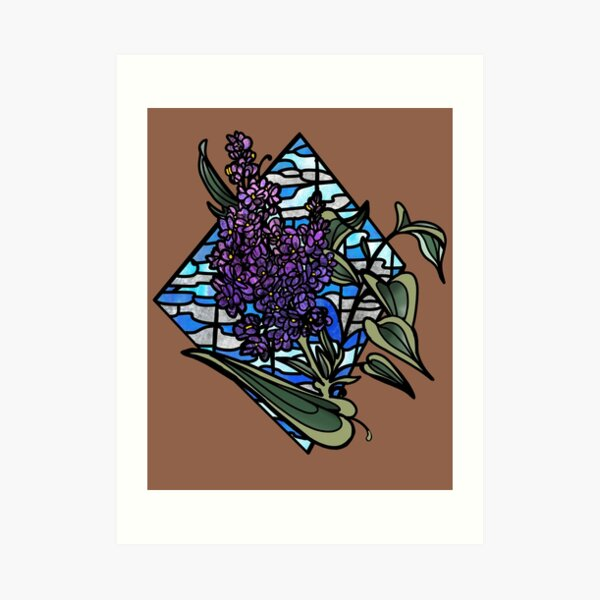 Lilac stained glass Art Print