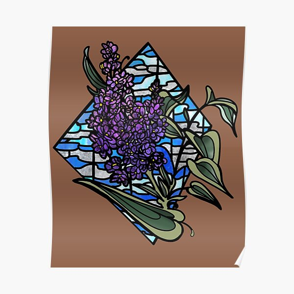 Lilac stained glass Poster