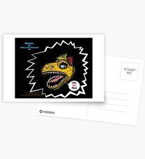 "What's Inside Your Gut, Shmut?: A Tragic First Tale of the World's Last Dumbosaurus!-""Like Grr, Man!"" (premier promo print) Postcards"