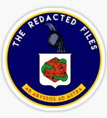 Redacted Files Podcast Logo Sticker