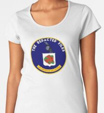 Redacted Files Podcast Logo Women's Premium T-Shirt