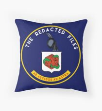 Redacted Files Podcast Logo Throw Pillow