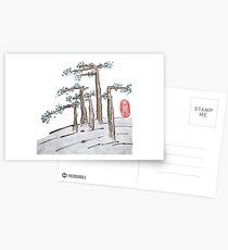 Flat Trees Landscape Postcards