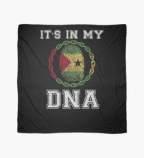 Sao Tome And Principe Its In My Dna Gift For Sao Tomean From Sao Tome And Principe - DNA Strand and Thumbprint With Sao Tome And Principe Flag Scarf
