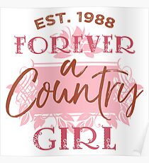 1988 Birthday Country Girl Poster