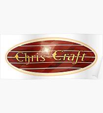 Chris Craft Vintage wooden boats USA Poster