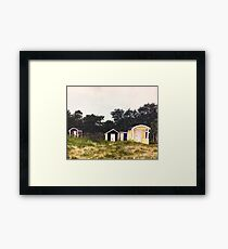 Beach Sheds in Sweden Framed Print
