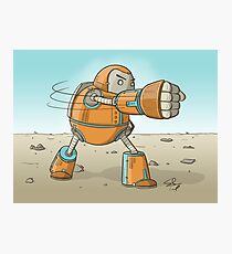 Robot punch! Photographic Print