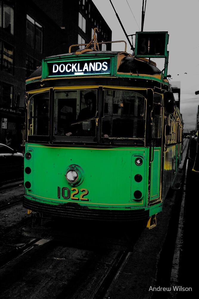 Docklands Tram by Andrew Wilson
