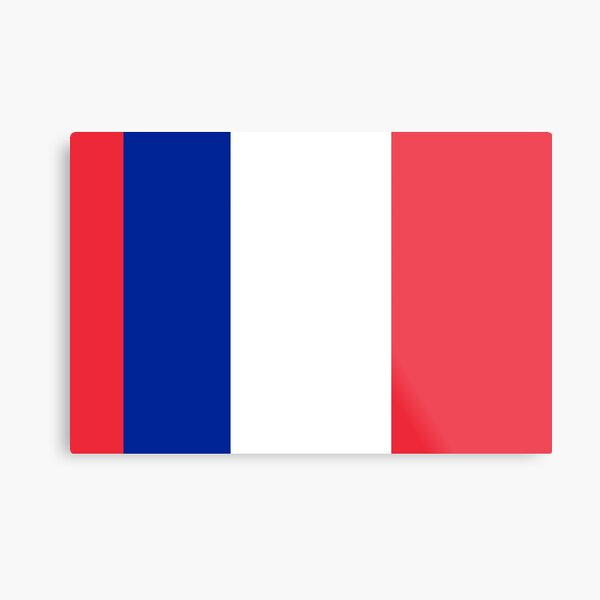 Red Blue White Red French Flag Metal Print