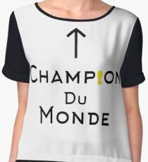 Champion du monde - black Chiffon Top