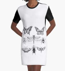 Insect Series in pointillism Graphic T-Shirt Dress