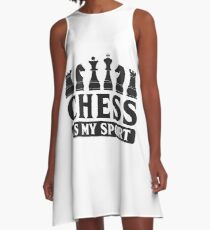 Chess Chess Pieces Board Game Sport Gift Idea A-Line Dress
